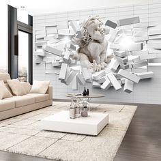 Papier peint intiss 350x245 cm 3 couleurs choisir for Eichholz interieur