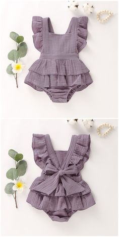 Baby Girl s Square Collar Ruffle Sleeves Ramie Cotton Panel Peplum Romper Baby Girl s Square Collar Ruffle Sleeves Ramie Cotton Panel Peplum Romper tychome tychome official Ramie Cotton Bodysuit Infant Romper Jumpsuit for nbsp hellip Vintage Baby Clothes, Cute Baby Clothes, Baby Girl Clothes Summer, Summer Baby, Dress Vintage, Dresses Kids Girl, Girl Outfits, Toddler Outfits, Fashion Outfits