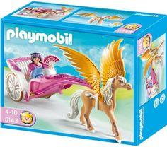 Playmobil Princess with Pegasus Carriage by Playmobil. $16.95. Playmobil 5143 Pegasus Carriage. Save 35% Off!