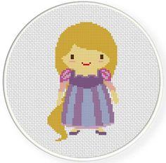 Princess Rapunzel Cross Stitch Pattern