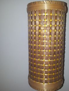 Lamp handcrafted from bamboo