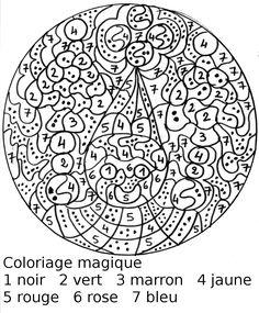 coloriage magique maternelle noel - Google Search