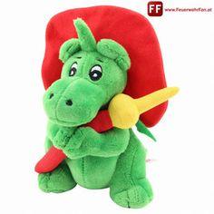 Feuerwehrfan - FeuerwehrFan Talisman, Smurfs, Dinosaur Stuffed Animal, Cartoons, Fan, Toys, Animals, Fictional Characters, Kite