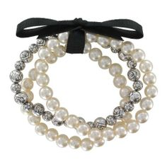 Cream Simulated Pearl and Artisan Inspired Bead with Black Grosgrain Ribbon Stretch Bracelet Set Amazon Curated Collection, http://www.amazon.com/dp/B007EI43UO/ref=cm_sw_r_pi_dp_k.hqrb0XD96Q5