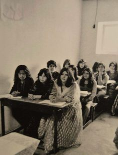 Kurdish girls attending school in Mahabad shortly before the Islamic revolution