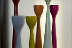 Scandinavian Modern Rolf™ Candlesticks, three sizes, 37 colors, Celebrating 10, by FREEMOVER.se. Design: Maria Lovisa Dahlberg @FREEMOVER