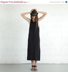 Drawstring maxi dress Knit Maxi por Naftul