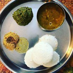 Breakfast of those most likely to curl up with a book for most of the afternoon. Molagapodi (aka gunpowder) murungai chutney (made with moringa leaves) and sambhar. Moringa Leaves, Palak Paneer, Chutney, Curls, Homemade, Dinner, Book, Breakfast, Ethnic Recipes