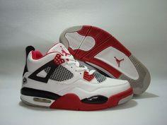 3a782cd3243c Air Jordan Retro 4 white black fire red