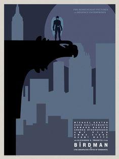 Birdman Posters Put the Film's Hero in 10 North American Cities -/Film Best Movie Posters, Movie Poster Art, Cool Posters, Film Posters, Edward Norton, Michael Keaton, Martin Scorsese, Stanley Kubrick, Alfred Hitchcock