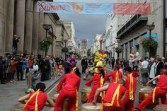 Chinese drums as part of the Big Sweep on Bold Street Festival 2012
