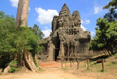 South Gate, Angkor, Barcelona Cathedral, City, Building, Travel, Image, Voyage, Buildings
