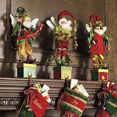 Holiday Decor - Christmas Fairies Stocking Holders: Magical ...