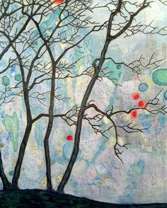 "Saatchi Art Artist Nathalie Maquet; Painting, ""Bulle"" #art 39.4 H x 31.5 W $1800"