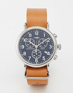 Timex | Timex Weekender Chronograph Military Strap Watch at ASOS