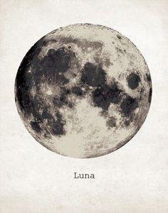 Riesen Mond Poster, Luna Moon Kunstdruck, Nebula Galaxy Star Super Moon Print, Wandkunst, nach Hause ,  #galaxy #kunstdruck #nebula #poster #print #riesen #super