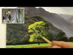 Painting lessons - How to paint trees and bushes in oil painting - YouTube #OilPaintingLessons