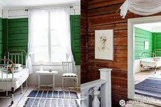 Vanha talo opettaa asukkaitaan » Krista Keltanen Blog House Design, Weekend House, Interior, Home, Green Rooms, Building A House, Old House, White Houses, Scandinavian Interior