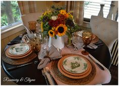 Rosemary and Thyme: Fall Tablescape