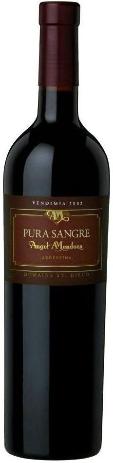 """Pura Sangre"" Malbec 80% / Cabernet Sauvignon 20 % 2009 - Bodega Domaine St. Diego, Maipú, Mendoza-----------------------Terroir: Lunlunta------------------------Crianza: 24 meses en barricas de roble francés y americano"