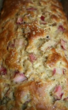 Enjoy the first part of the summer fruit harvest with this delicious, dairy and nut free Rhubarb Apple Loaf breakfast freezer meal recipe.