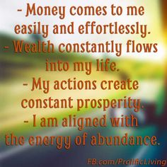25 Money Affirmations to Attract Wealth and Abundance Change your outlook #positivity #livepositively