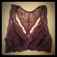 NWOT Eberjay Gray Lace Bralet NWOT Eberjay Gray Lace Bralet, SZ L.  Cups are lined, not padded.  Color is closest to the second photo.   Racer back style.  Super soft lace.  This is so feminine.  The ultimate in luxury lingerie. Eberjay Accessories
