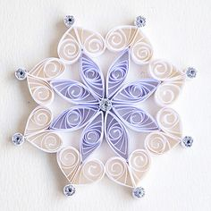 6 point white quilled snowflake with silver glitter | Flickr - Photo Sharing!