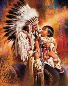 Amérindien et son petit fils <3 *****