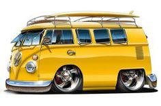 Cars cartoon autos 35 ideas for 2019 Bus Cartoon, Cartoon Car Drawing, Car Drawings, Volkswagen Bus, Vw T1, Kombi Clipper, Vw Classic, Combi Vw, Truck Art