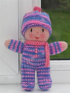 Ravelry: Rainbow Babies pattern by Jean Greenhowe - free knitting patternRainbow Babies by Jean Greenhowe Free pat tern,cute and easy! Perfect for dontions!January 2011 ami-along themes are Babies! and/or Breakfast Free Knitted Dolls PatternsDescript Baby Knitting Patterns, Knitted Doll Patterns, Knitting Charts, Knitting For Kids, Loom Knitting, Free Knitting, Knitting Projects, Knitting Toys, Crochet Patterns