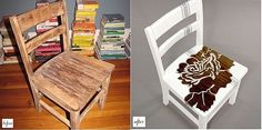 Great idea for the wooden folding chairs I've been wonder what to do with:)