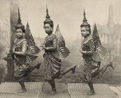 Dancers in Costume, Thailand 1920   Theodore Macklin