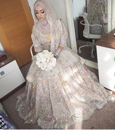 Hijabi Wedding, Muslimah Wedding Dress, Asian Wedding Dress, Pakistani Wedding Outfits, Muslim Brides, Pakistani Bridal Dresses, Pakistani Wedding Dresses, Pakistani Dress Design, Bridal Outfits