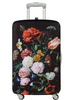 Luggage Cover Folk Chinese Inspired Floral Swirls Protective Travel Trunk Case Elastic Luggage Suitcase Protector Cover