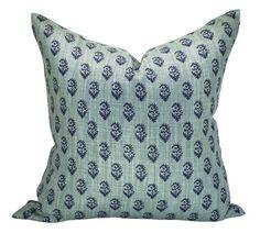 family room sofa....Peter Dunham Textiles Rajmata Tonal pillow cover in by sparkmodern