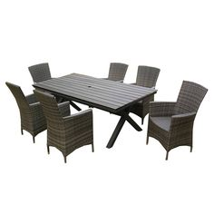 Shop Henryka  CW4227 Wicker 7-Piece Dining Set at Lowe's Canada. Find our selection of outdoor dining sets at the lowest price guaranteed with price match + 10% off.