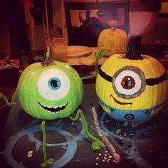 Minion pumpkin! So cute.