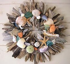 Not sure I like everything about it, but I love seashells, so making a wreath of seashells seems appropriate