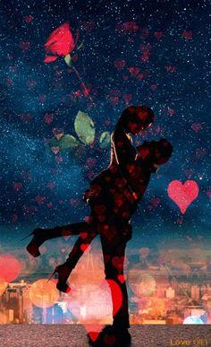 Romantic Gif, Romantic Images, Love Images, Love Pictures, Love Cartoon Couple, Anime Love Couple, Couple Stuff, Couple Amour Anime, Coeur Gif