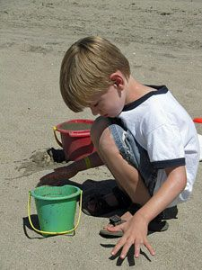 Also important -- buckets, bags for collecting natural treasures and hammer for breaking rocks, sticks etc.