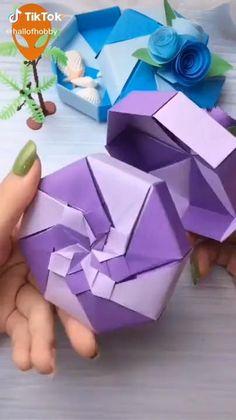 Diy Crafts Hacks, Diy Crafts For Gifts, Diy Arts And Crafts, Creative Crafts, Crafts For Kids, Creative Ideas, Diy Projects, Instruções Origami, Paper Crafts Origami