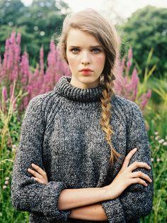 Vanessa Jackman - speckled grey knit