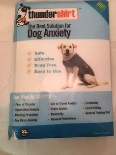 Thundershirt Dog Anxiety Treatment XL Grey lightly worn 60-100 lb dogs #Thundershirt