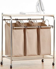 """Neatfreak Hampers, Everfresh Laundry Triple Sorter with Ironing Board - Cleaning & Organizing - for the home - Macy's 30.98""""W x 32.99""""H x 16.26""""D"""