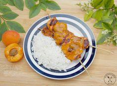 Grillowany kurczak z pikantnym sosem morelowym