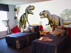 Large Dinosaurs Wall Murals Bedroom--Little man would never go to sleep he would just rawr!!