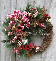 Christmas Wreath, Holiday Wreath, Whimsical Christmas, Snowman, Jingle Bells, Christmas Door Wreath by NewEnglandWreath on Etsy https://www.etsy.com/listing/206283071/christmas-wreath-holiday-wreath
