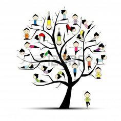 Yoga-Praxis, Baum-Konzept f�r Ihr Design
