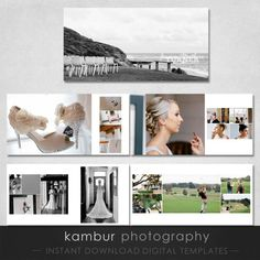 12X12 & 10X10 PSD Wedding Album Template -  15 spread (30 pages) Classic Modern Design (2 SIZES)
